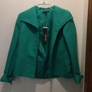 Emerald green jacket long sleeve with cuff